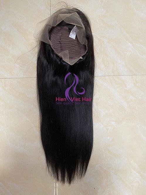 13x6 silky straight lace front wig with 100% human virgin hair