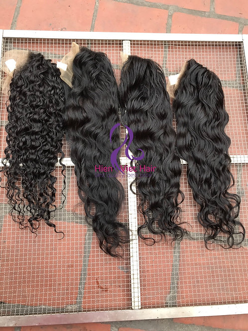 Wavy and curly 13x6 front lace wig with hdlace and 100% virgin hair - wig factor