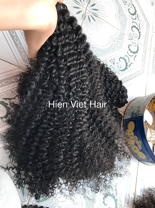 Nice kinky curly hair - free tangle no shedding/100% remy virgin hair