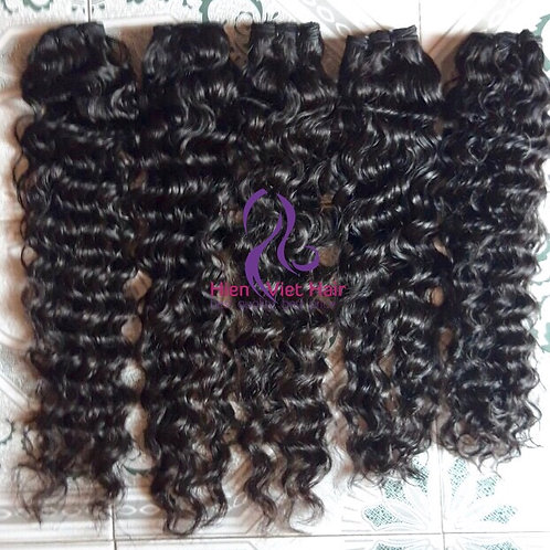 Jerry curly with natural looking made by remy virgin hair - best quality- best p
