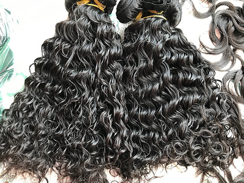 Natural wave style human hair weave