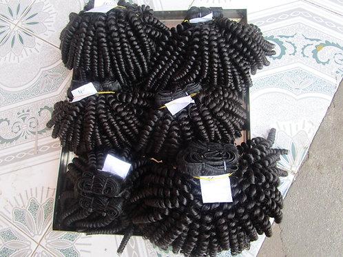 Molado curly hair/kinky curly hair weave - 100% human hair weft