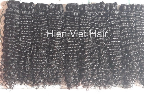Super double drawn curly hair weft - best quality hair for wholesale