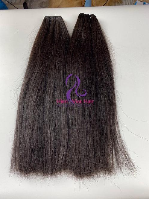 Double drawn straight hair bundles with 100% human virgin hair