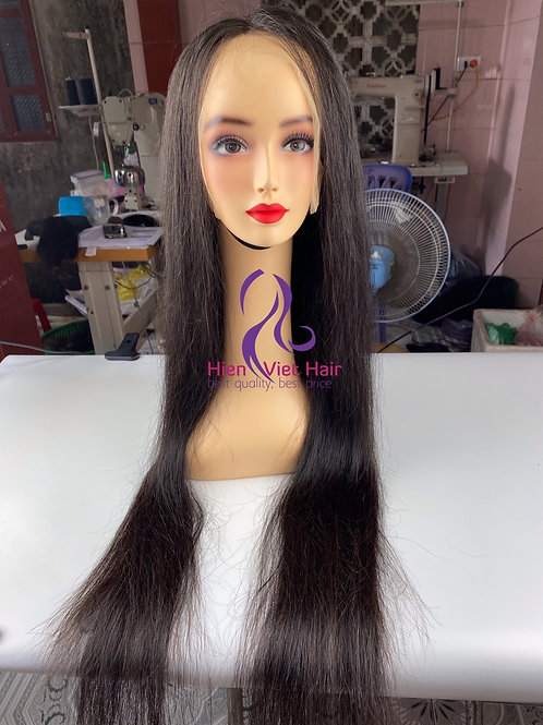 Silky straight and long hair lace front wig - 13x6 wig with hdlace