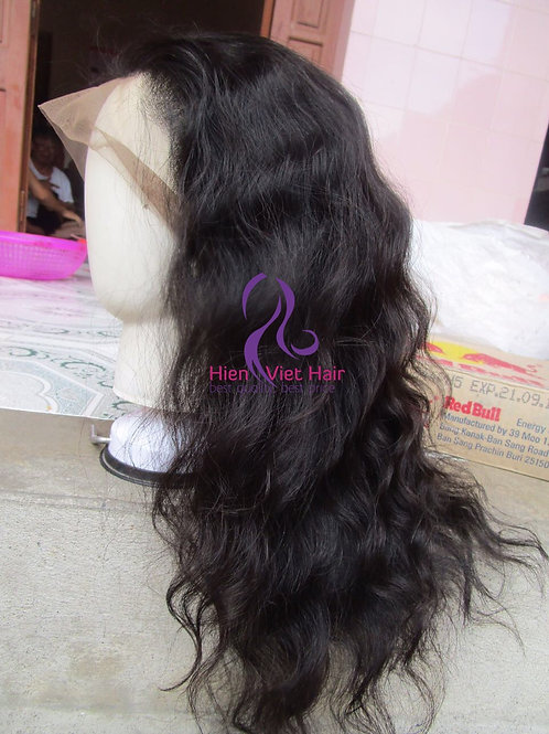 Full lace wig with 100% human virgin hair - wavy lace wig