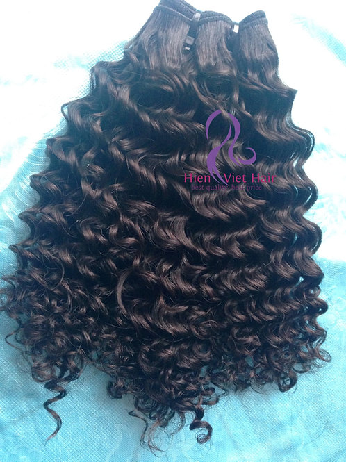 high quality double drawn curly hair - human hair