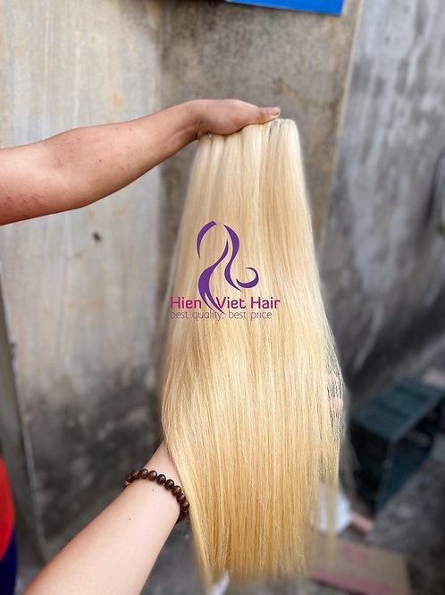 Silky straight blonde hair - human hair - high quality hair for wholesale