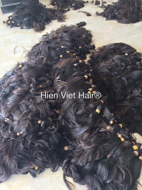 Huge quantity bulk raw hair in stock- 100% virgin hair- cheap price raw hair