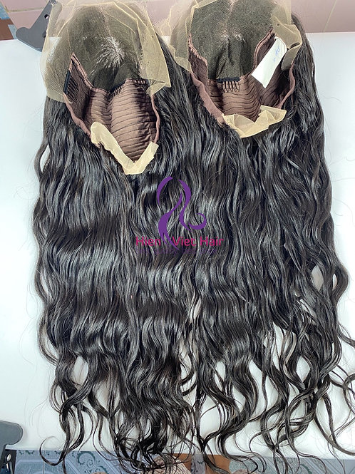 Natural wave hair wig - 13x6 lace front wig with 100% raw virgin hair
