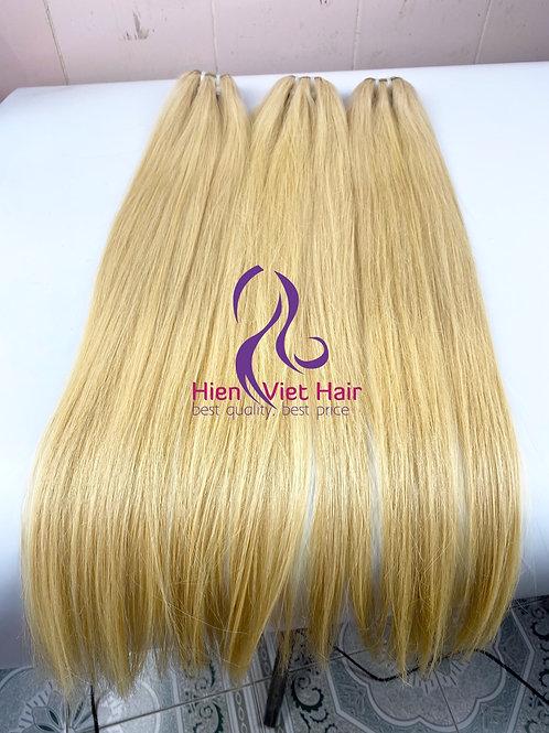Silky straight blonde hair - #613 blonde hair - 100% human hair - hair wholesale
