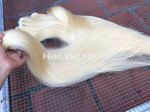 Silky straight blonde hair extensions- 100% human hair