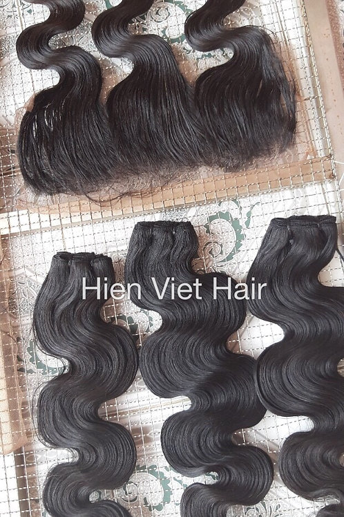 Body wave hair bundles with matching frontal- best quality hair and best price