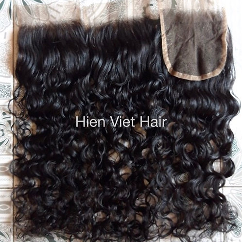 Curly lace closure- with swiss lace and virgin hair- best price for wholesale