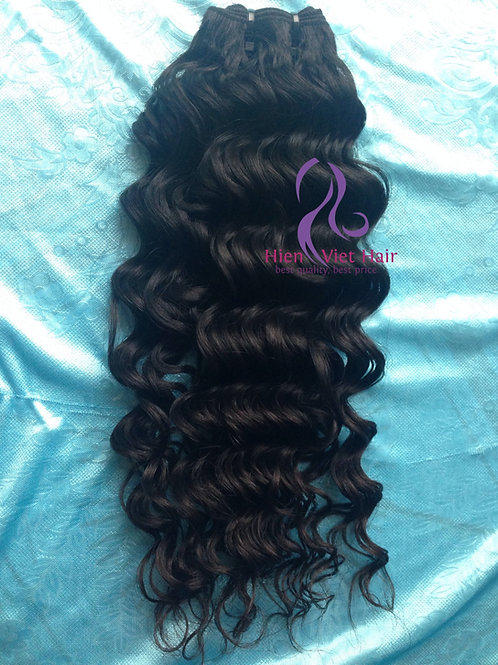 high quality double drawn deep wave hair - human hair