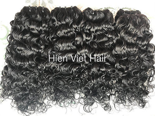 Loose curly hair weave- no shedding, free tangle for wholesale