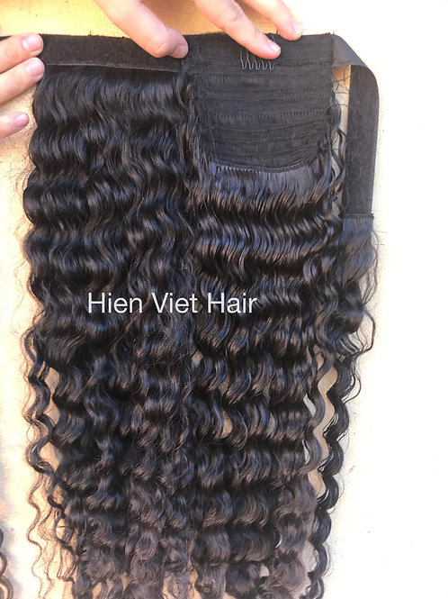 Curly ponytail hair extensions- 100% virgin hair- best wholesale price