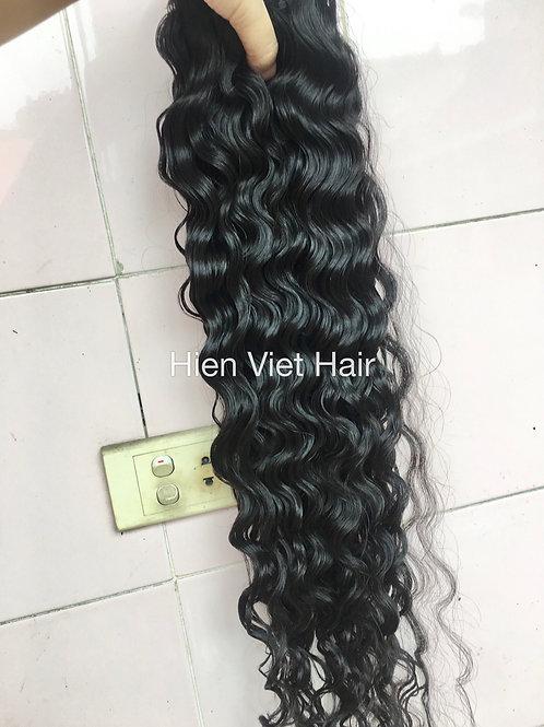 Ocean water wave hair weave extensions- 100% human virgin hair for wholesale