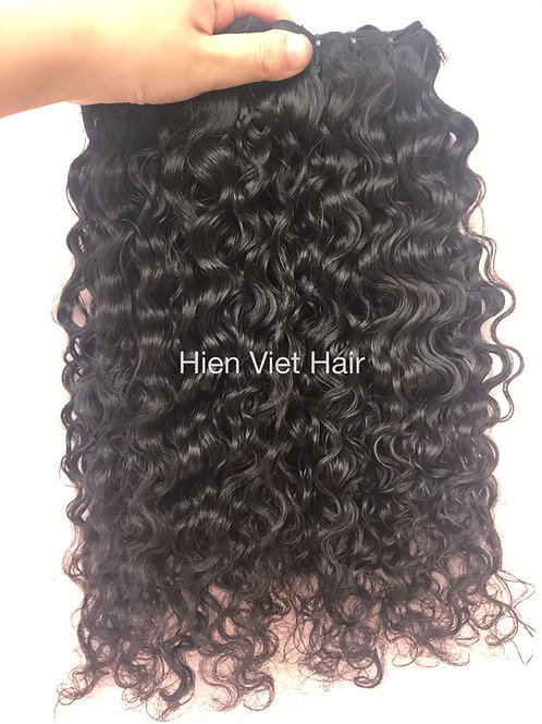 Soft and no shedding curly hair extensions- 100% high quality virgin hair