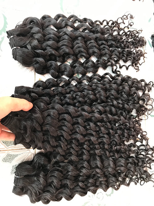 Italian curly human hair weave