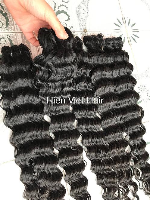 Deep wave hair weft - 100% human virgin hair