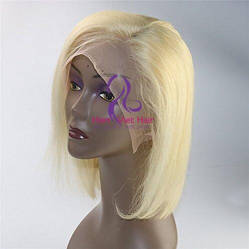 Blonde hair full lace wig - bob style- 100% human hair