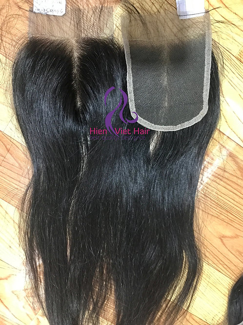 4x4, 5x5 middle part lace closure with swiss lace and virgin hair