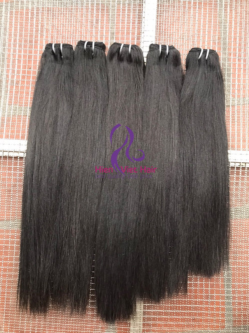 Silky straight hair with raw virgin hair for wholesale direct from hair factory
