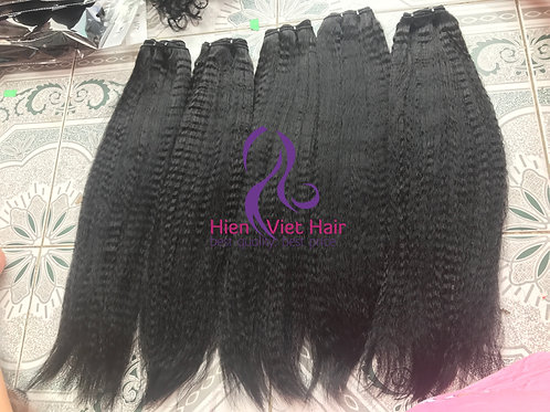 Kinky straight hair/yaki hair weave -100% human hair with best price