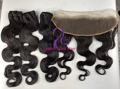 Body wave hair with matching frontal - 100% human hair - hdlace