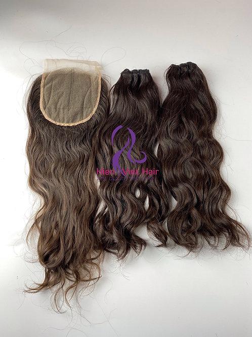 Natural brown hair - 100% human hair