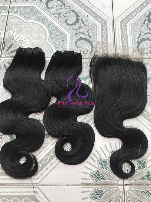 Body wave hair with matching closure