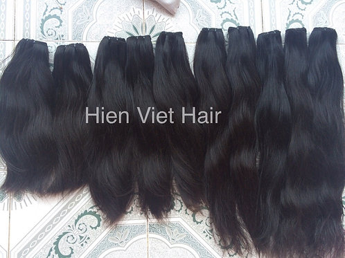 Slight natural wave hair weft - 100% natural hair - best hair for wholesale