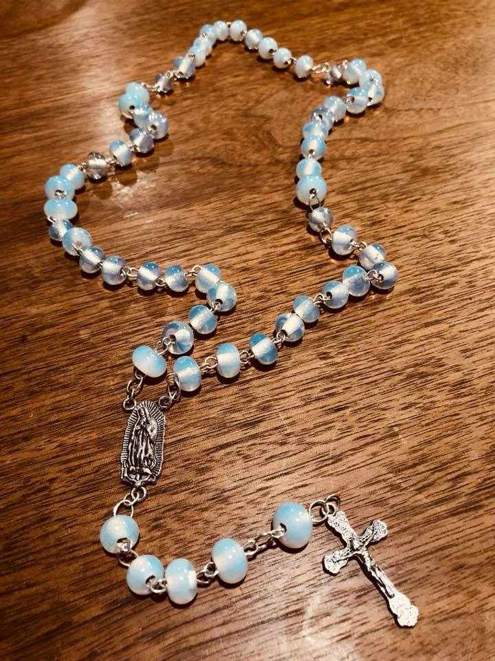 Moonstone & Sterling Silver Rosary