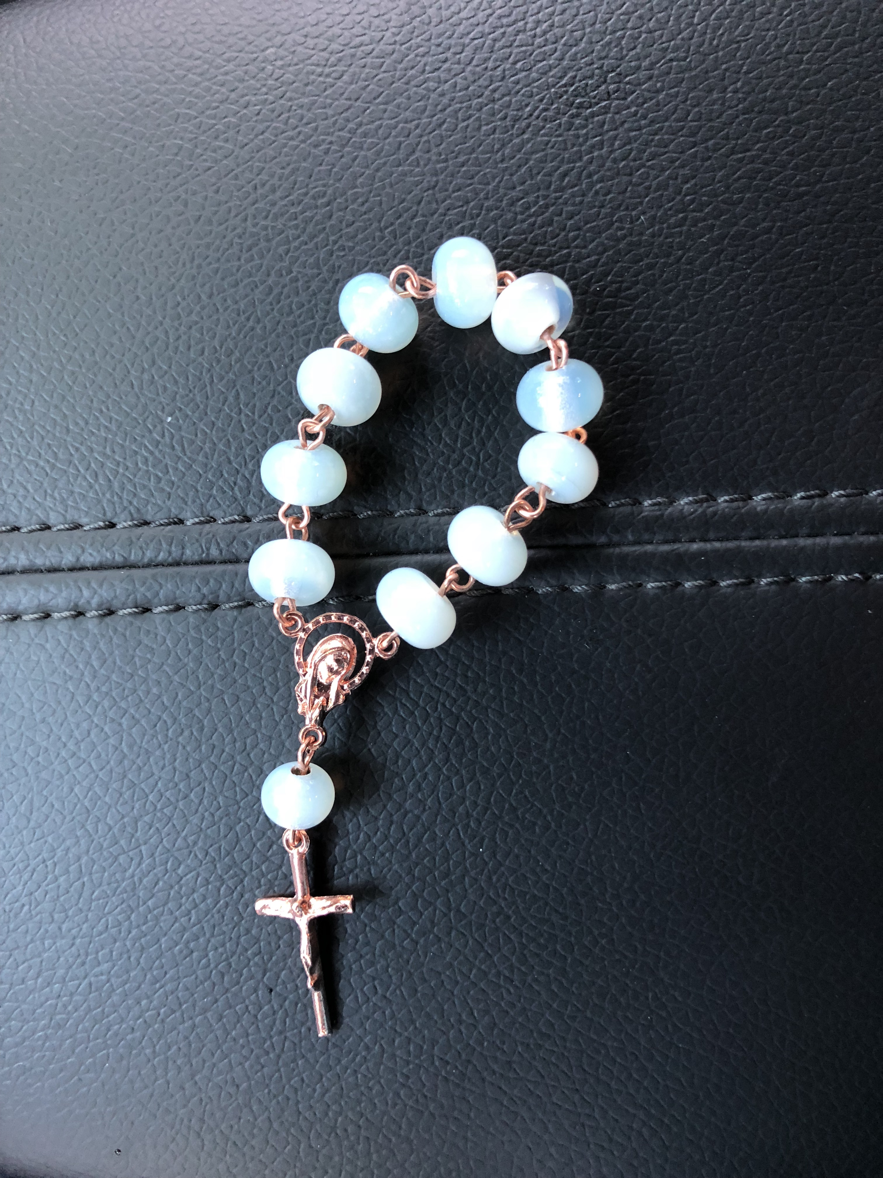 Opal Moonstone & Rose Gold Plated