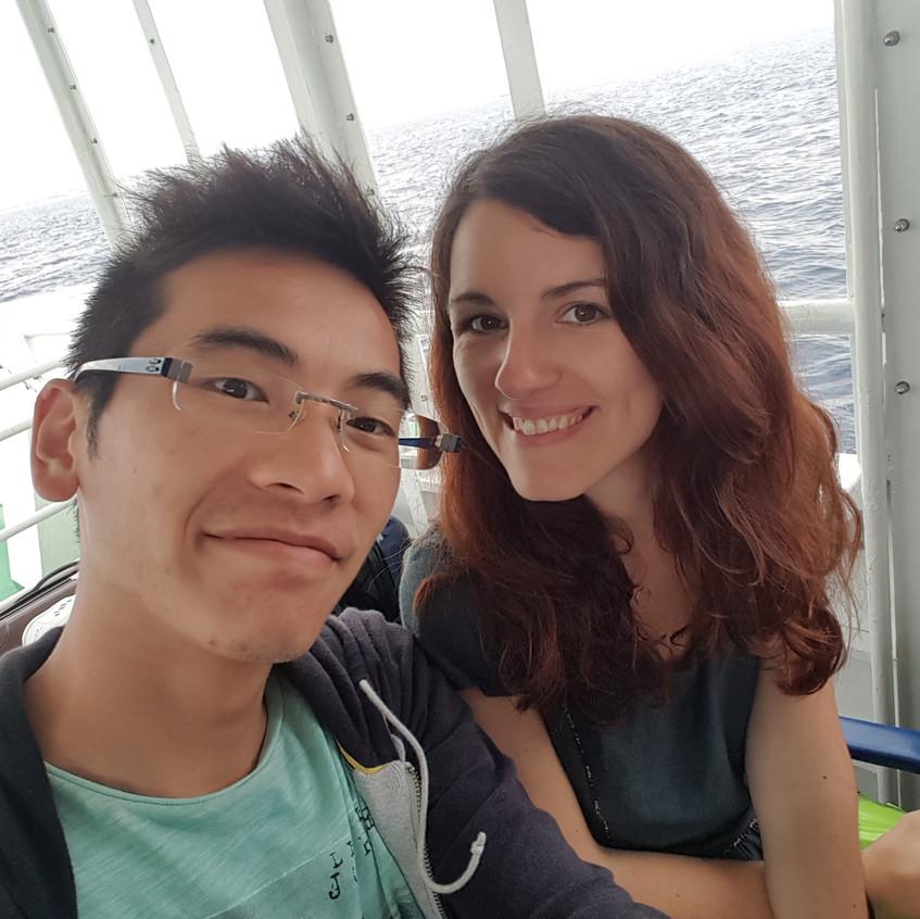 En bateau avec Chéri