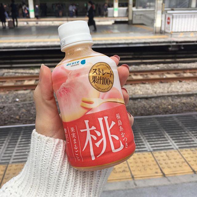 Boisson conseillé par le distributeur 😍#tokyo #japan #asakusa #besttripever #withmylove #peach