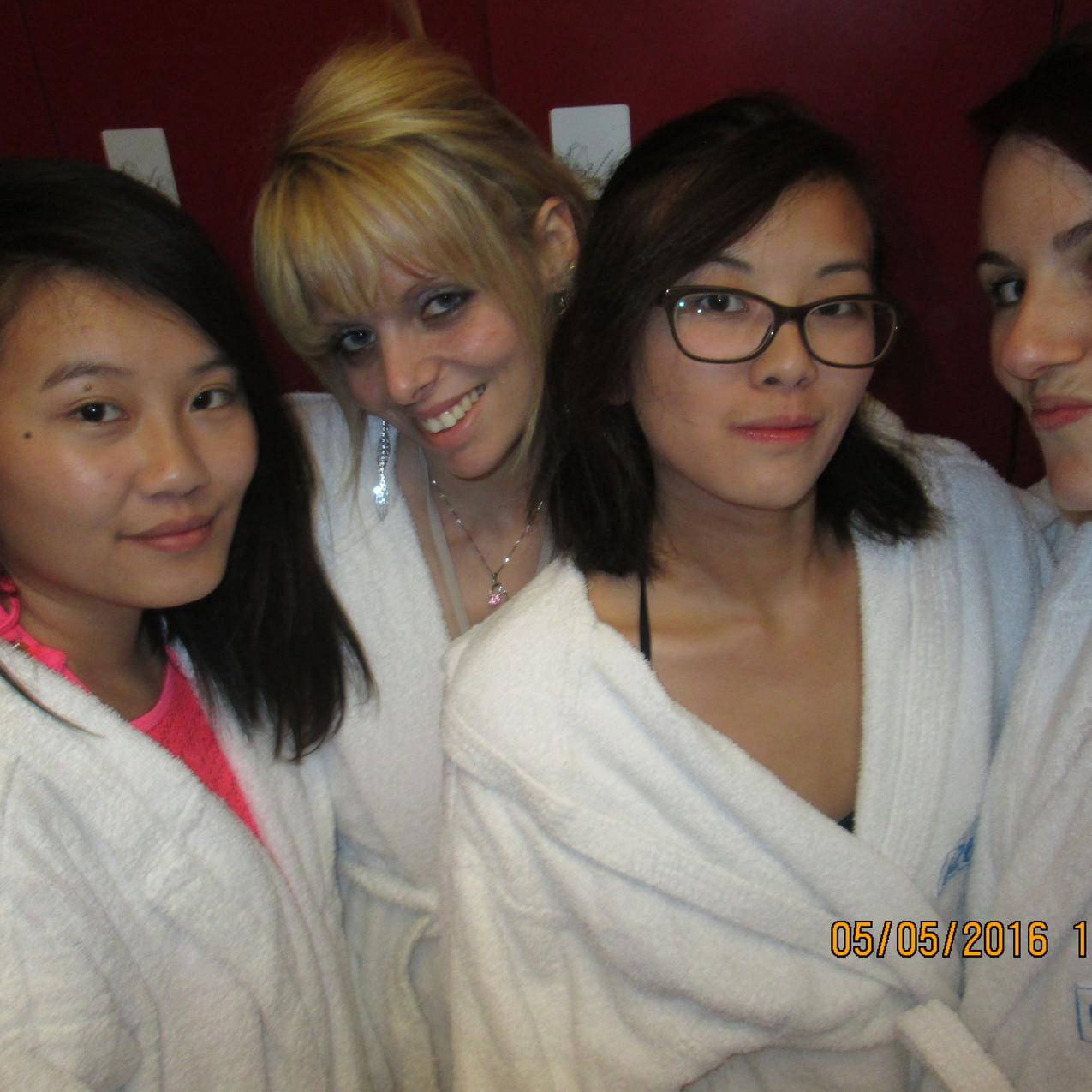 With my girls au spa à Milan