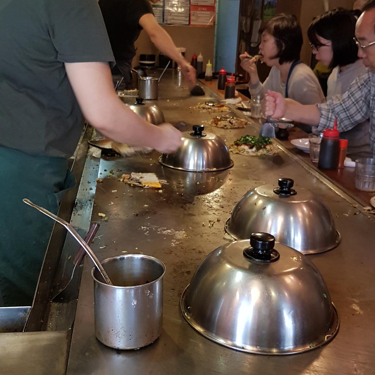 préparation okonomiyaki