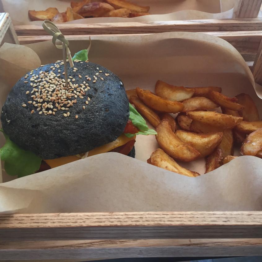 Vegetarian burger Milan