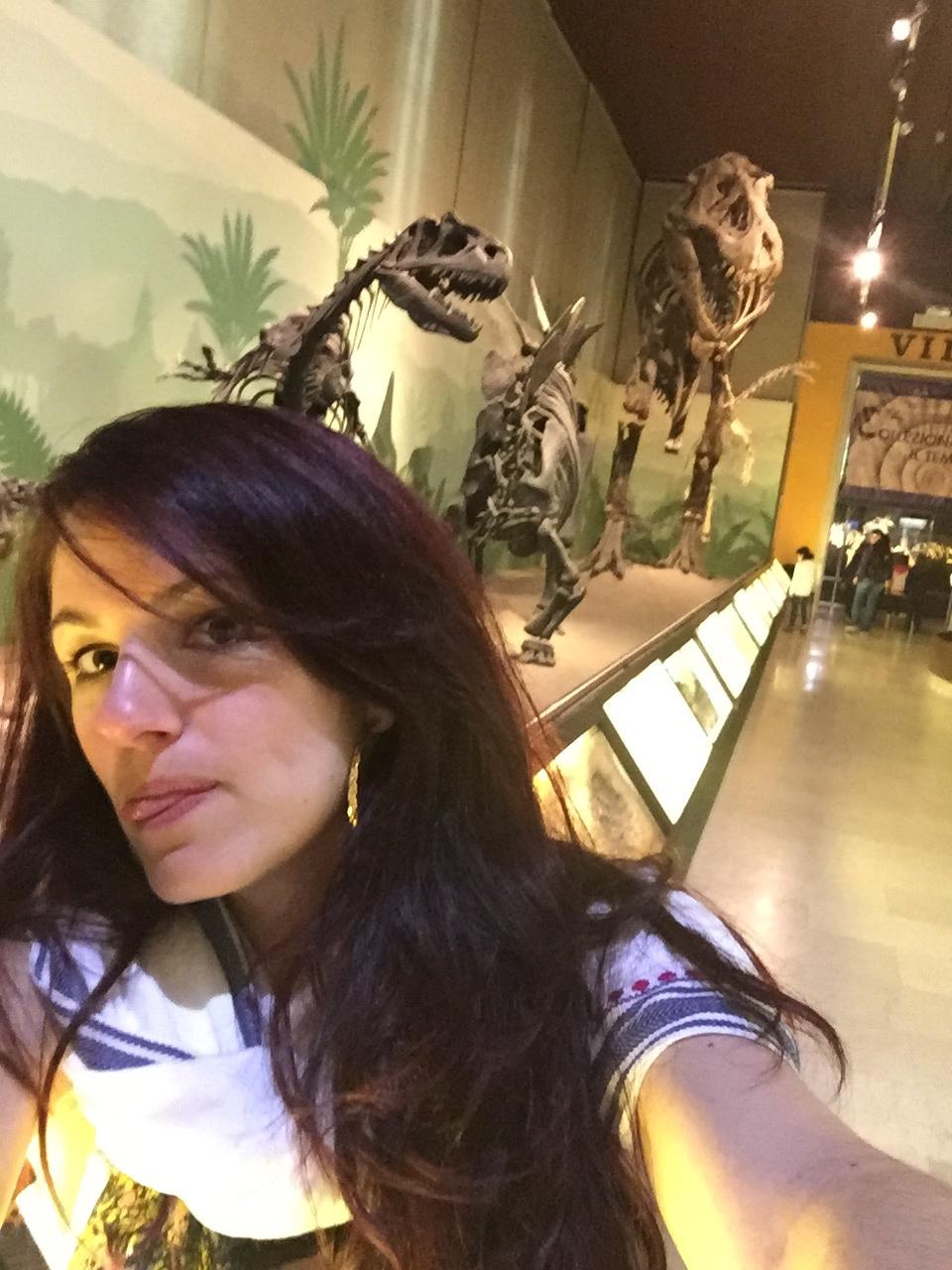 Selfie avec les dinosaures