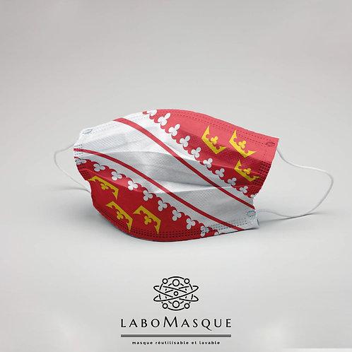 Masque barrière Drapeau Alsace - Masque en tissu alternatif