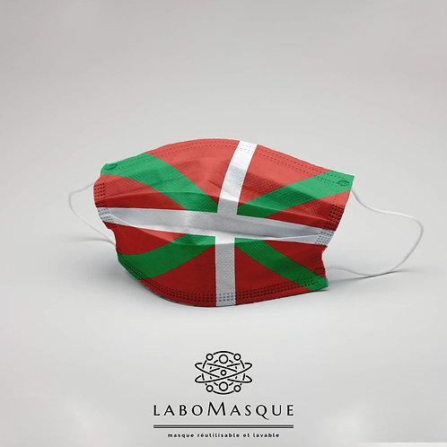 Masque barrière Drapeau Basque - Masque en tissu alternatif