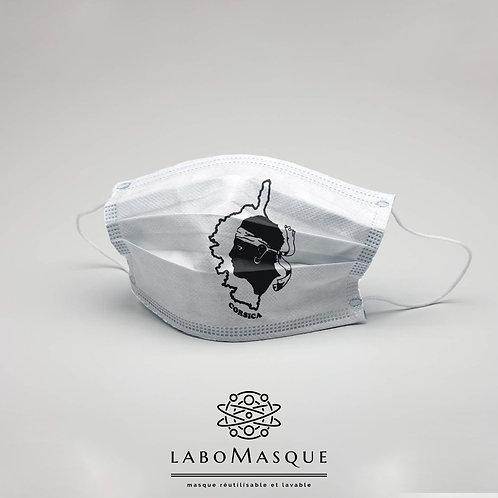 Masque barrière Drapeau Corse - Masque en tissu alternati