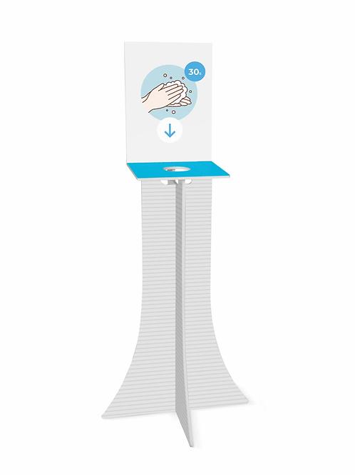 Colonne distributrice de gel désinfectant