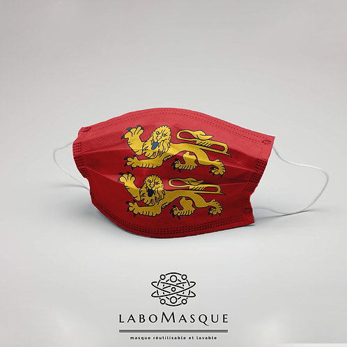 Masque barrière Drapeau Normandie - Masque en tissu alternat