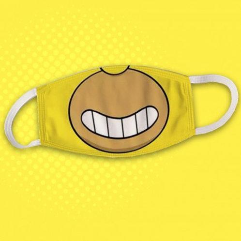 Masque en tissu inspiration Homer Simpson