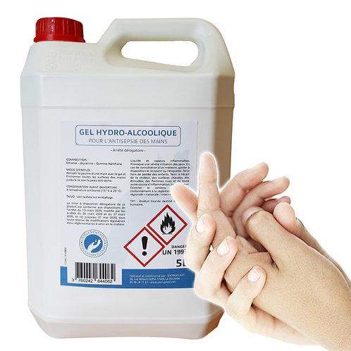 Bidon 5L de gel hydroalcoolique glycériné