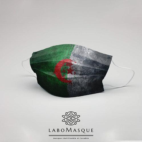 Masque barrière Drapeau Algérie - Masque en tissu alternat