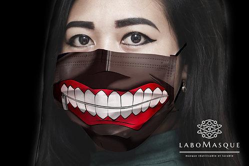 Masque Ken Kaneki en tissu